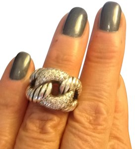Ladies Custom Made Silver & Diamond Ring