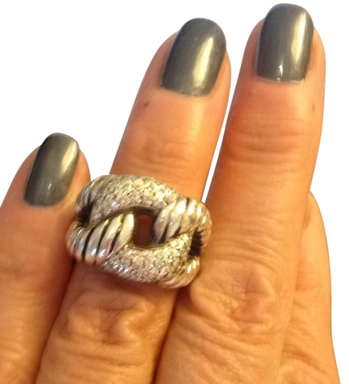 Other Ladies Custom Made Silver & Diamond Ring
