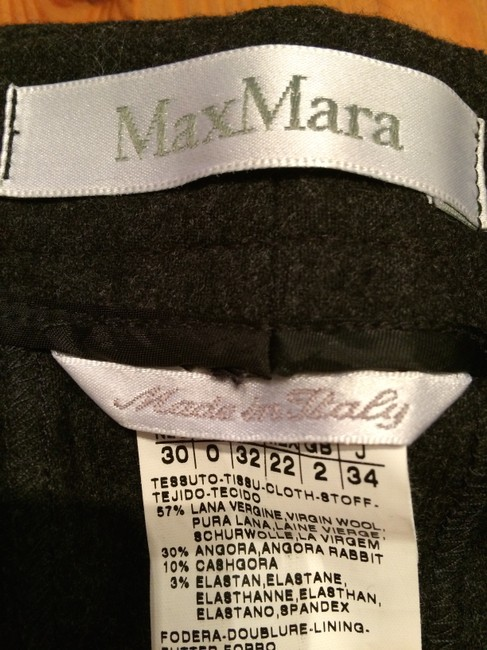 Max Mara Lightweight Wool Angora Professional Made In Italy Trouser Pants Charcoal Image 2