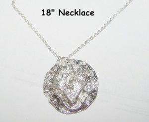 Ruffled Rose Necklace Free Earrings & Shipping