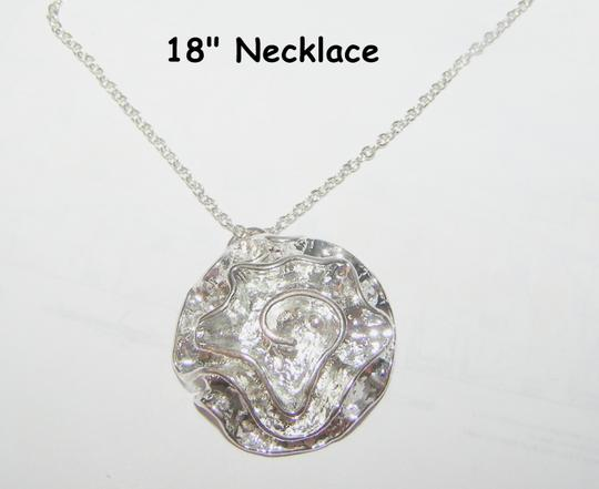 Silver Bogo Free Ruffled Rose Necklace Free Shipping Jewelry Set
