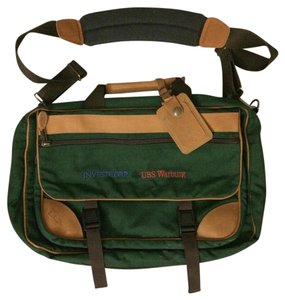 L.L.Bean Green/Brown Messenger Bag
