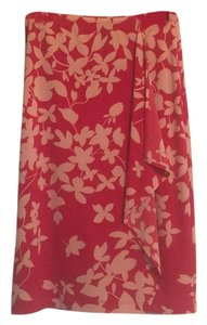 BCBGMAXAZRIA Skirt Red and peach