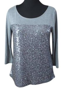 J.Crew T Shirt Grey Sequin