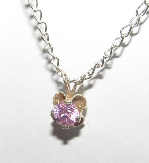Silver/Pink Bogo Free Sterling Topaz Free Shipping Necklace