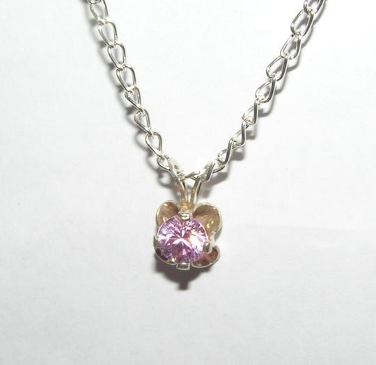 Bogo Free Sterling Silver Pink Topaz Necklace Free Shipping