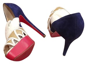 Christian Louboutin Platform Red Bottom Red Sole Multi Pumps