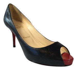Christian Louboutin Peep Toe 75mm Black Pumps