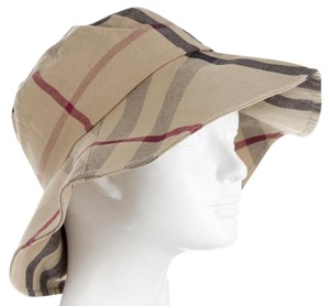 Burberry Brown, beige, black Burberry Exploded Check plaid wool bucket hat