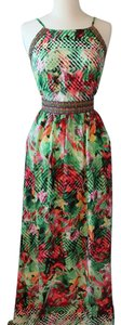 Soieblu Floral Tropical Vacation Dress