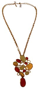 OSCAR DE LA RENTA OSCAR DE LA RENTA RED, GREEN, AND GOLD STONE NECKLACE