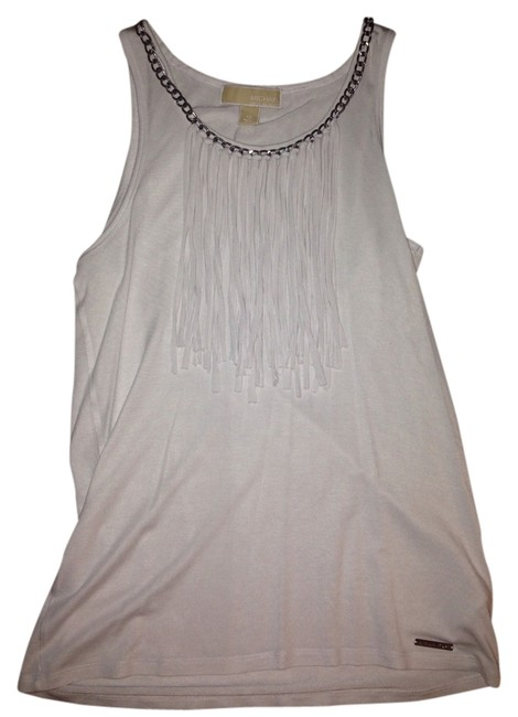 Preload https://img-static.tradesy.com/item/1590753/michael-kors-white-with-a-silver-chain-tank-topcami-size-2-xs-0-0-650-650.jpg