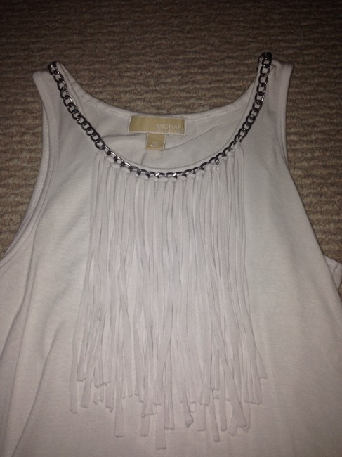 Michael Kors Top White with a silver chain
