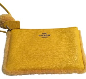 Coach Wristlet in Yellow