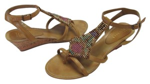 Nickels Size 8.50 M Very Good Condiiton Neutral, Aqua, Brown, Sandals