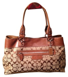 Coach Classic Like New Satchel in Brown and tan