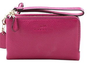 Coach Wristlet in Pink Ruby