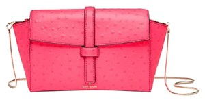 Kate Spade Crossbody Emmie Riverside Street Ostrich Emmie Satchel in hot rose