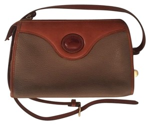 Dooney & Bourke Vintage Classic Leather Monogram Shoulder Bag