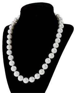 SensationWear South Sea Imitation White Pearl Necklace