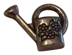 Other Beautiful Silver Tone WATERING CAN Floating Charm for Memory Locket Bracelet / Necklace: Great for Scrap Booking & Craft Projects! 10 Watering Can Charms PLUS 1 Basket Charm