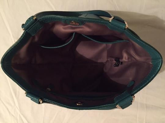 Cole Haan Village Marcy Market Tote in Emerald Green Image 6