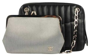 Chanel Clutch Silver Shoulder Bag