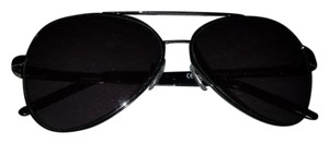 Saint Laurent YSL vintage silver Grey aviator sunglasses 2187
