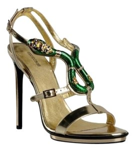 Roberto Cavalli Metallic/gold Sandals