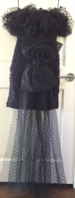 Victor Costa One-of-a-kind Vintage 80s Custom High-low Long Bow At Dress