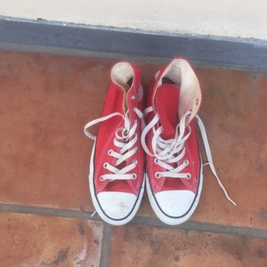 Converse High Top Sneakers Red Athletic
