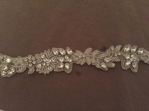Rhinestone & Crystal Beaded Leaf & Vine Pattern Delicate Beaded Sash
