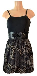 Nina Piu short dress Black/Beige on Tradesy