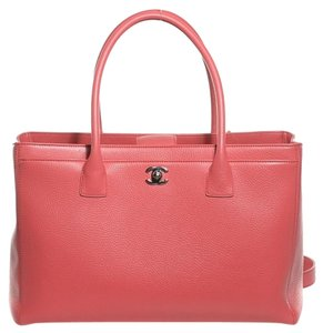 Chanel Leather Executive Tote in PINK CORAL