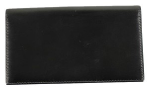 Hermès Long Passport Wallet Black Clutch
