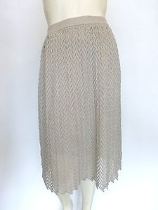 Alice + Olivia Knit Pattern Xs38 Skirt taupe