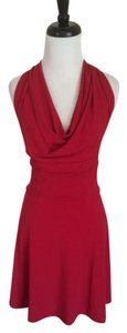 Jennifer Croll short dress Red Halter New on Tradesy