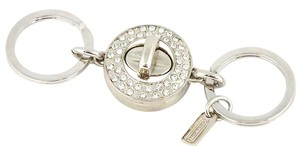 Coach Pave Turn Lock Valet Key Chain