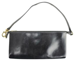 Salvatore Ferragamo Pochette Black Clutch