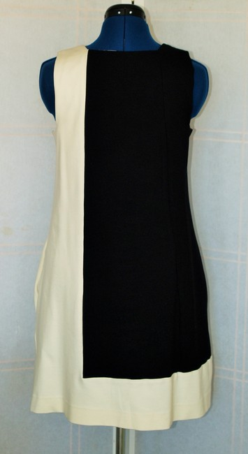 Abaete short dress Black and off white 60s Colorblock Mod on Tradesy
