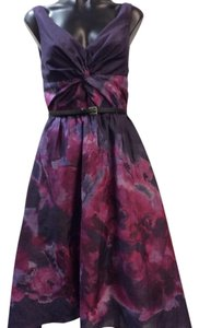 Lela Rose Tulled Skirt Hi-low Dress