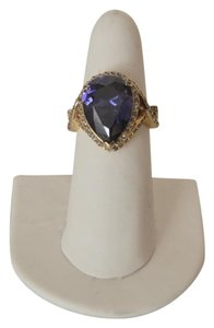 Charles Winston Charles Winston Large .925 Sterling Silver Simulated Tanzanite Pear Shape Ring Size 9