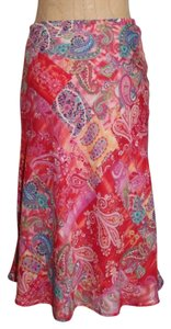 Coldwater Creek Paisley Skirt MULTI COLOR