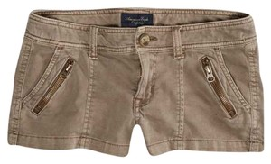 American Eagle Outfitters Zip Mini/Short Shorts Olive Beige