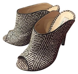 Kristin Cavallari for Chinese Laundry herringbone black/white Mules