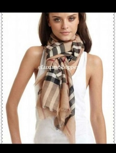 Burberry Authentic BURBERRY Extra Long Silk Wool Scarf