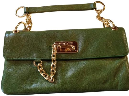 Michael Kors green Clutch
