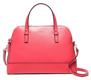Kate Spade Maise Satchel in flamingo/ Gold tone
