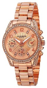 Akribos XXIV Akribos XXIV AK710RG Swiss Quartz Diamond Multifunction SS Watch