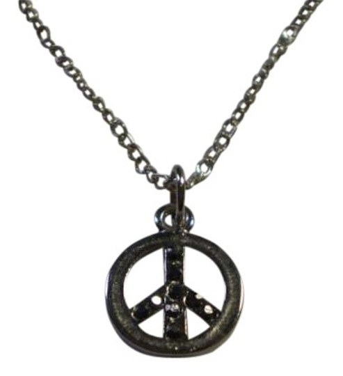 Other Peace Symbal Necklace w/Rhinestones